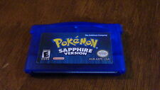 Pokemon Sapphire Version Game Boy Advance SP Gameboy Cart Tested Saves