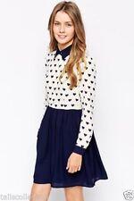 Polyester Geometric Shirt Dresses