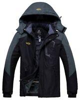 Wantdo Men Snowboard Jacket Ski Coat Waterproof Jacket Warm Raincoat Snow Jacket
