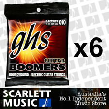 6x GHS GBL Guitar Boomers Roundwound Light Electric Guitar Strings 10 - 46