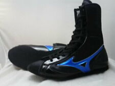 Mizuno Boxing Shoes Mid Black x metal blue Free shipping Made in Japan Bto New