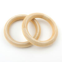 Holzringe 68mm Natur Farblos Buchenholz Schmuck Deko Holz Ring 5stk BEST H167