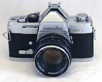 MINOLTA SR-1 VINTAGE 35mm Film SLR Camera ROKKOR-PF f/1.8 55mm Lens JAPAN