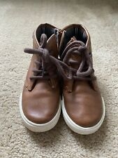 Nautica Brown Leather Toddler Boys Boots Size 10