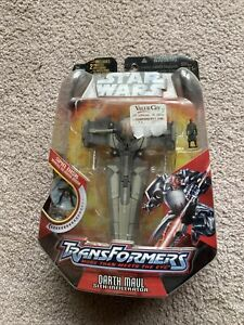 Star Wars Transformers Crossover Darth Maul Sith Infiltrator MOC (2006)