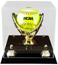 Softball Display Case With Golf Glove & Free Name Plate - MADE IN USA