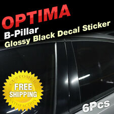 Glossy Black B C Pillar Post Decal Sticker Molding 6P For KIA 2011-15 Optima K5