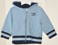 babyGAP Size 6-12 Months Boys Blue Front Zipper Hoody Jacket