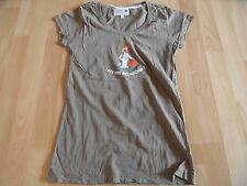 ADELHEID schönes Shirt LASS UNS ABTAUCHEN khaki Gr. M TOP  RC715