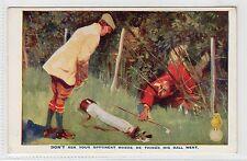 NORTH BRITISH RUBBER Co; Comic Golf postcard (C3794).