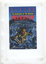 ALIENS VS PREDATOR: THE DEADLIEST OF SPECIES POSTCARD (9.2) SIGNED BY CLAREMONT!