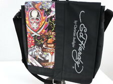 Ed Hardy by Christian Audigier Messenger Bag Backpack Laptop Black Skulls NWOT