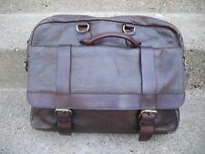 Vintage Gusset Leather Attorney's Lawyer Messenger Cross Body Shoulder Bag Pack