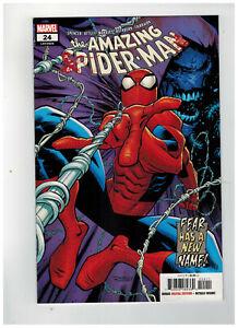 AMAZING SPIDER-MAN #24  1st Printing - Blood Logo Variant   / 2019 Marvel Comics
