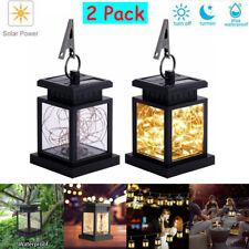 2Pcs Solar Lantern Outdoor Hanging Decorative String Fairy Landscape Table Lamp