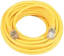 New Coleman Cable 01698 50-Feet 12/3 Contractor Extension Cord with Lighted End