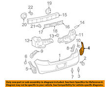 TOYOTA OEM 07-08 Yaris Rear Bumper-Side Seal Right 5259152181