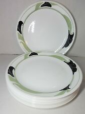 Read Listing Corelle BLACK ORCHID 10.25-inch Dinner Plates Plate FAIR CONDITION