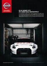 2014 Nissan GTR GT-R Nismo GT3 Race Original Advertisement Print Art Car Ad J896