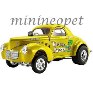 ACME A1800919 1940 WILLYS GASSER RAT FINK 1/18 DIECAST CAR YELLOW