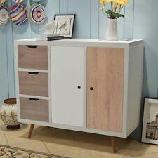 Retro Sideboard Cabinet Furniture Vintage Wooden Storage Unit 3 Drawers Cupboard