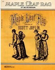 "SCOTT JOPLIN ragtime piano solo /""MAPLE LEAF RAG/"" reprinted STARK MUSIC CO 1970"