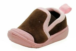 Skidders Girl's XY8708 Brown Skidproof Gripper Slipper Shoes