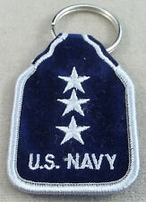 US Navy Vice Admiral O-9 Rank Embroidered Keychain