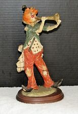 Vintage Pucci 12 inch Clown Hobo Playing Horn Figurine