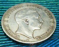 1891  German States PRUSSIA 5 Mark KM# 523
