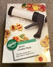 New listing Wilton Spritz Cookie Press - 12 Cookie Designs - Easy Squeeze Trigger Action