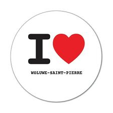 I love WOLUWE-SAINT-PIERRE - Aufkleber Sticker Decal - 6cm