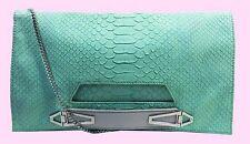DANIELLE NICOLE Willa Light Green Leather Clutch/Shoulder Bag Msrp $50.00