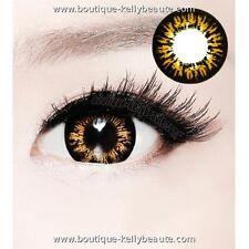 Lentilles de Couleur MARRON Big Eyes HR Duree 365j. Filtre Contact UV +Etui