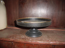 Vintage Toleware Cake Stand, Cupcake, Pedestal. Great shape!