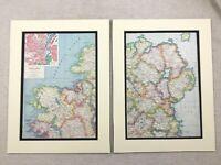 1920 Antique Prints Map of Northern Ireland Londonderry Belfast City Street Plan