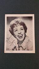 Carol Burnett-signed vintage postcard-pose 11 - coa - Dual Signed!
