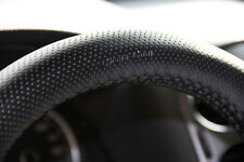 "New 14.75"" Black Steering Wheel Cover PVC Leather Wrap Sew on 47004 Medium Sedan"