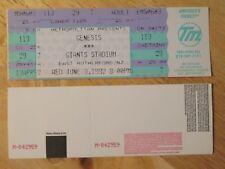 UNUSED GENESIS June 3, 1992 GIANTS STADIUM NJ Concert Ticket PHIL COLLINS