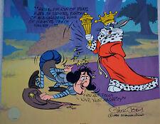 CHUCK JONES SIR LOIN OF BEEF ANIMATION CEL SIGNED/# W/COA #338/500