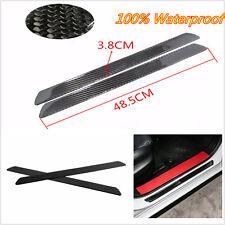 2 x Black Real Carbon Fiber Car Truck Scuff Plate Door Sill Cover Protector 49cm