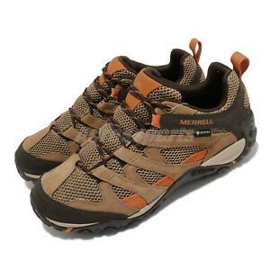 Merrell Alverstone GTX Gore-Tex Brown Orange Men Outdoors Hiking Trail J035663