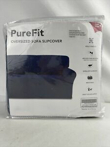 PureFit Super Stretch Chair Navy Sofa Slipcover Spandex Soft Couch Cover EL0658