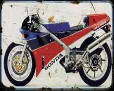 Honda Rc30 A4 métal signe Moto Vintage Aged
