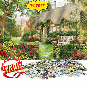 1000 Piece Jigsaw Puzzle England Cottage Landscapes Toys Educational Set -New