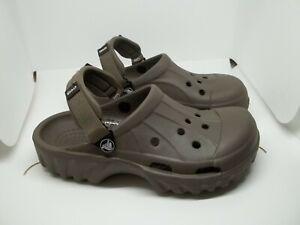 Crocs Offroad Sport Clog Hunter Green adjustable Straps Mens Size 6 Womens 8 EUC