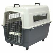 SportPet Designs Plastic Kennel Wire Door Travel Dog Crate, XXL