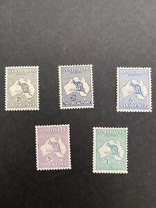 Australia 1915 SG 24-28 Roos, MH Stamp