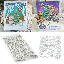 Forest Animal Cutting Dies Clear Stamps DIY Scrapbooking Paper Card Embossing