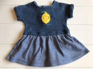 "Baby Girls Age Up To 1 month Dress With Body MotherCare Blue ""I Need A Squeeze"""